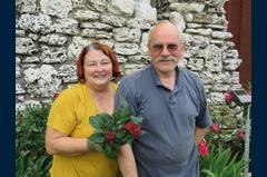 Teresa and Andrzej Blek - tending to the garden of roses